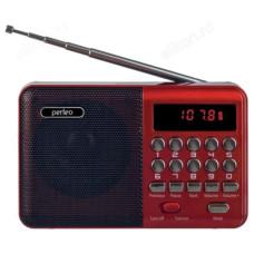 Радиоприемник цифровой Perfeo PALM FM+ 87.5-108МГц/ MP3/ питание USB или 18650/ красный (i90-Red)