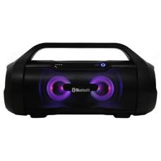 """Акустика Bluetooth 15W Perfeo """"DEEPTONE"""" FM, MP3, microSD USB AUX 3000mAh черная, ручка, подсветка"""