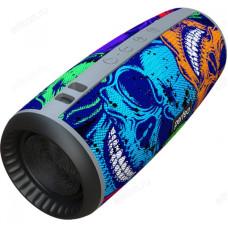 """Акустика Bluetooth 12W Perfeo """"SKULLS"""" FM, microSD, USB, AUX, мощность 12Вт, 2600mAh, граффити черепа"""
