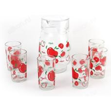 Кувшин + 6 стаканов Яблоки PV-05012