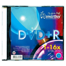 Диск SMART BUY DVD+R4,7 16x Slim (5)