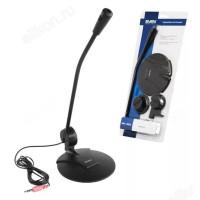 Микрофон Sven MK-200, держ. стол/монит, каб.1,8 м, жд 3,5 мм,