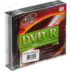 Диск VS DVD+R 4.7 Gb 16x Slim/5 (200)