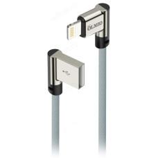 Кабель USB 2.0 - Lightning, 1м, угловой, тканевая оплетка OLMIO (038654)