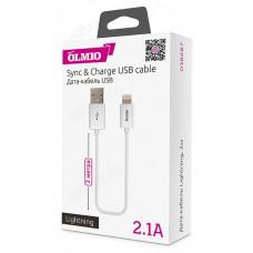 Кабель USB - 8pin 2м 2.1А OLMIO (038687)