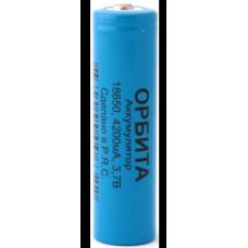 Аккумулятор 18650-4200 3,7V 1800mAh Li-ion Орбита ВР-2