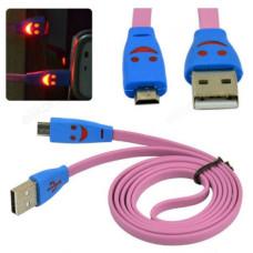 Кабель micro USB - USB 1м Орбита BS-3062 (LED)