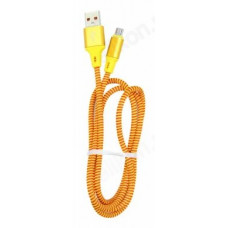 Кабель micro USB 1м Орбита KM-128 2A (ткан. оплетка)