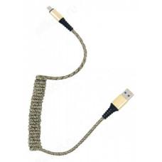 Кабель micro USB 1м Орбита KM-137 2A (витой, ткан. оплетка)