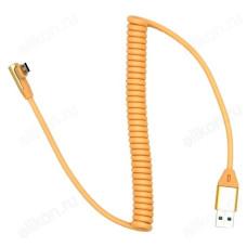 Кабель micro USB 1м Орбита KM-140 2A (витой, угл.)