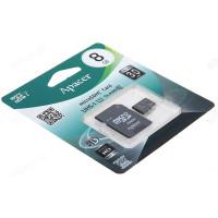 Карта MicroSD 8GB Apacer Class 10+адаптер