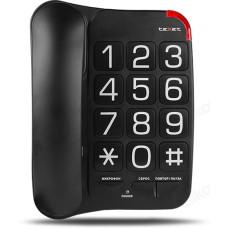 Телефон стационарный TEXET TX-201 чёрный