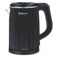чайник металлический SAKURA SA-2155BK (1,2л) дв.стен