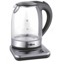 чайник стеклянный SAKURA SA-2724DBK (1,7л) выбор t* подставка
