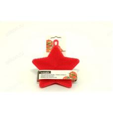 Губка силикон с ворсом для посуды SATOSHI 884-379
