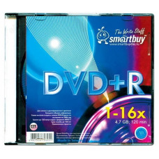 Диск Smartbuy DVD-R 4,7GB 16x SL-5/200/