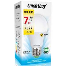 Лампа светодиодная LED E27 A60 7W 30K Smartbuy