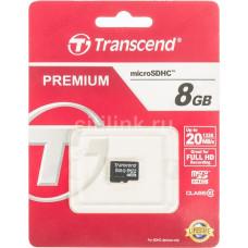 Карта MicroSD 8GB Transcend Class10 без адаптера
