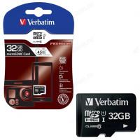Карта MicroSD 32GB Verbatim class 10