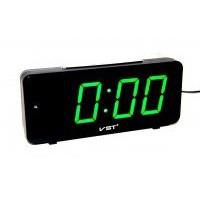 Часы настольные VST-763-2 зел.цифры