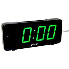Часы настольные VST-763-4 зел.цифры