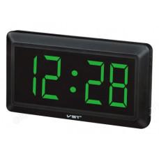 Часы настольные VST-780-4 зел.цифры